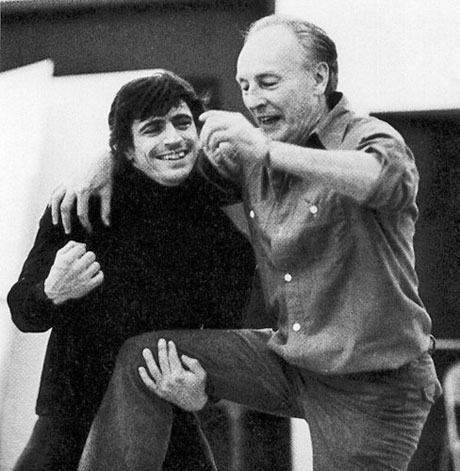1963, Edward Villella and Mr. B (George Balanchine).© Martha Swope, courtesy Edward Villella.