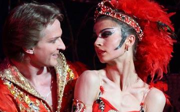 Alexandra Timofeyeva and Ilya Kuznetsov in The Firebird.© Valeria Komissarova. (Click image for larger version)