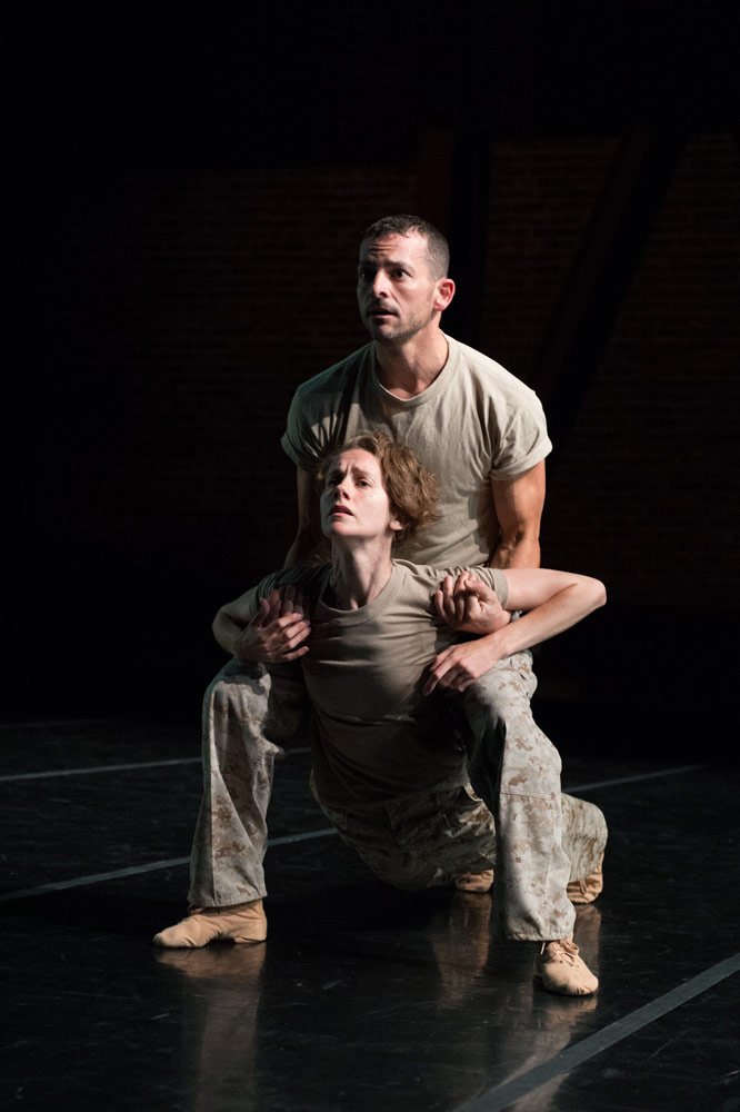 "Katherine Wells and Brandon ""Private"" Freeman in Val Caniparoli's <I>Triptych</I>.<br />© David DeSilva. (Click image for larger version)"