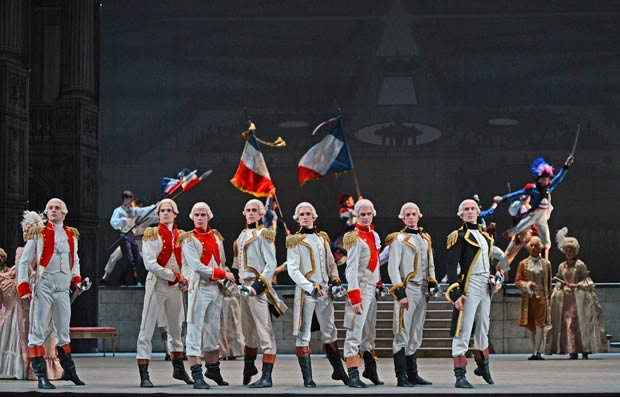 Bolshoi Ballet in <I>The Flames of Paris</I>.<br />© Dave Morgan. (Click image for larger version)