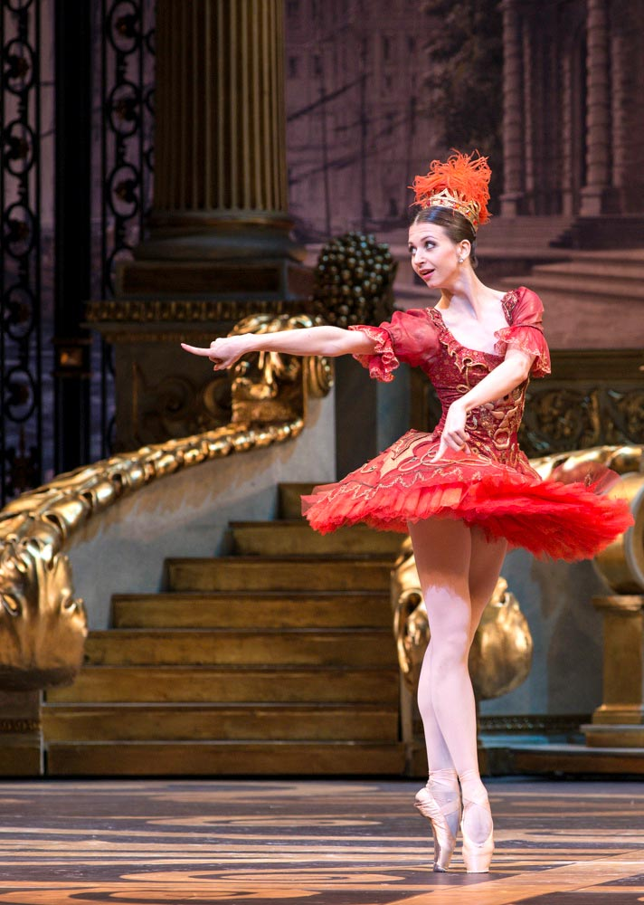 Anna Tikhomirova (Fairy Audacity) in <I>The Sleeping Beauty</I>.<br />© Foteini Christofilopoulou. (Click image for larger version)