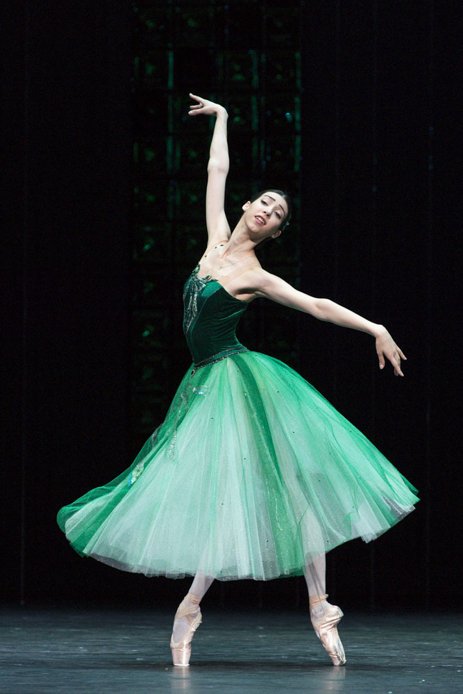 Ana Turazashvili in Emeralds, from Jewels.© Foteini Christofilopoulou. (Click image for larger version)