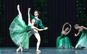 Evgenia Obraztsova & Vladislav Lantratov in Emeralds, from Jewels.© Foteini Christofilopoulou. (Click image for larger version)