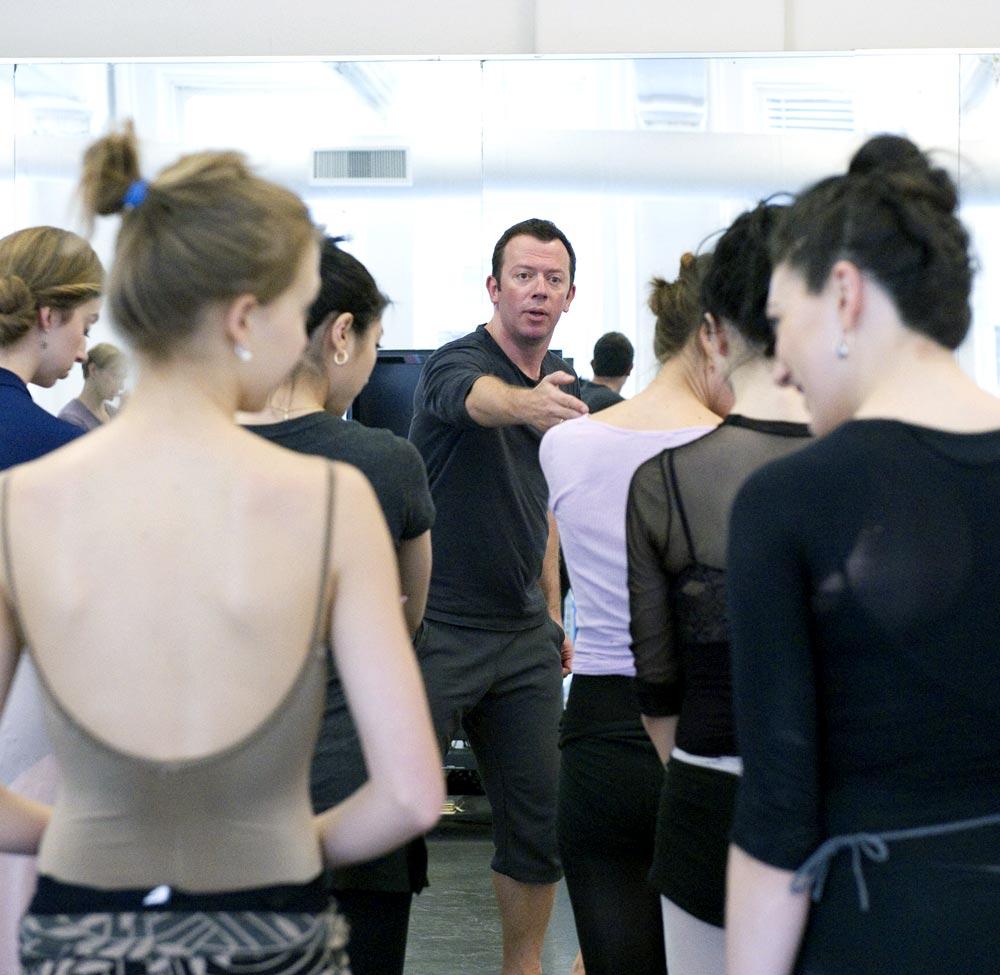 Alexei Ratmansky in <I>Firebird</I> rehearsals.<br />© Gene Schiavone. (Click image for larger version)