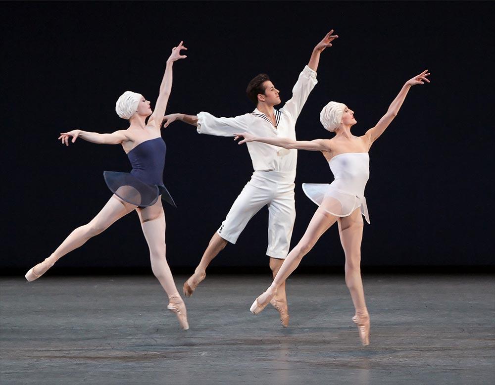 Sara Mearns, Robert Fairchild & Wendy Whelan in Alexei Ratmansky's <I>Namouna, A Grand Divertissement</I>.<br />© Paul Kolnik. (Click image for larger version)