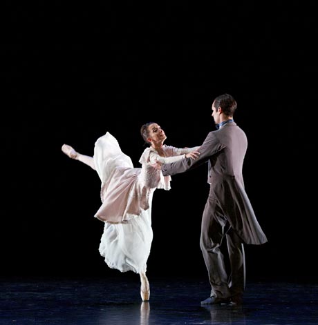 Luciana Ravizzi and Remi Andreoni in Peter Darrell's <I>Cheri</I>.<br />© Andrew Ross. (Click image for larger version)