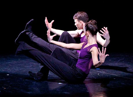 Nicholas Shoesmith and Luciana Ravizzi in Sophie Laplane's <I>Oxymore</I>.<br />© Andrew Ross. (Click image for larger version)