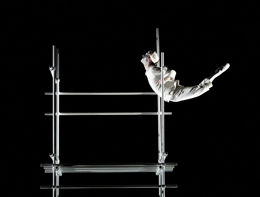 Luke Ahmet in Glen Tetley's Pierrot Lunaire for Scottish Ballet's Dance Odysseys.© Andrew Ross. (Click image for larger version)