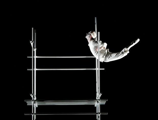 Luke Ahmet in Glen Tetley's <I>Pierrot Lunaire</I> for Scottish Ballet's <I>Dance Odysseys</I>.<br />© Andrew Ross. (Click image for larger version)