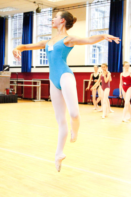 One of the classes at the Yorkshire Ballet Summer School - for which the gala is raising money.© Brendan Hopkinson. (Click image for larger version)