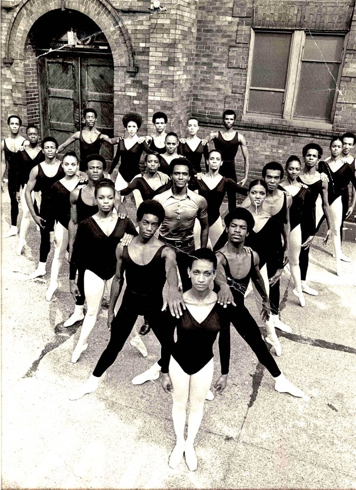 Archival photo of the Dance Theatre of Harlem Company.© Courtesy of the Dance Theatre of Harlem Archives