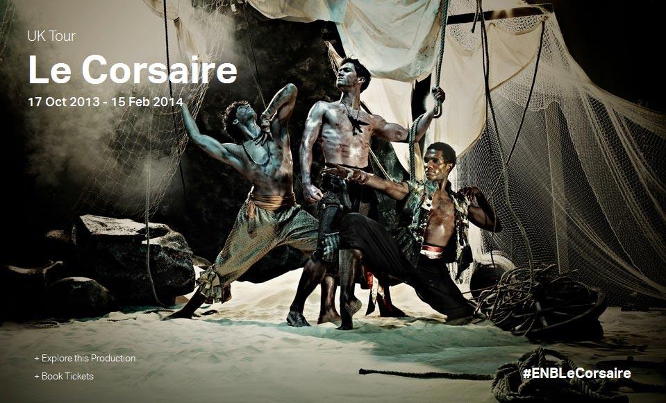 ENB poster image for <I>Le Cosaire</I>.<br />© English National Ballet. (Click image for larger version)