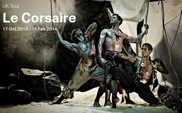 ENB poster image for Le Cosaire.© English National Ballet. (Click image for larger version)