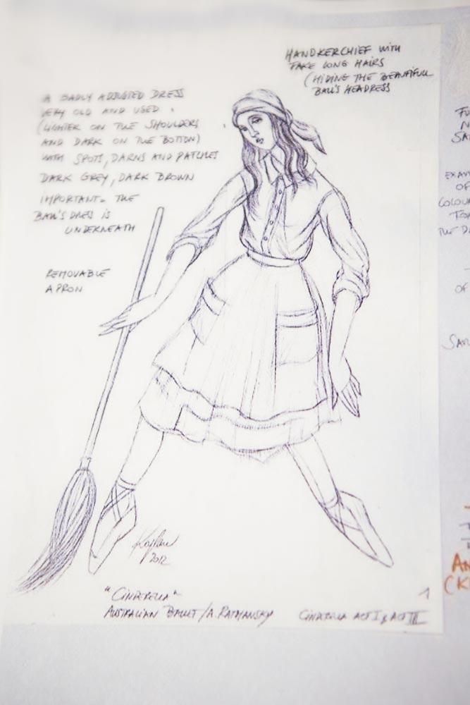 Cinderella costume designs by Jerome Kaplan.<br />© Jerome Kaplan. (Click image for larger version)
