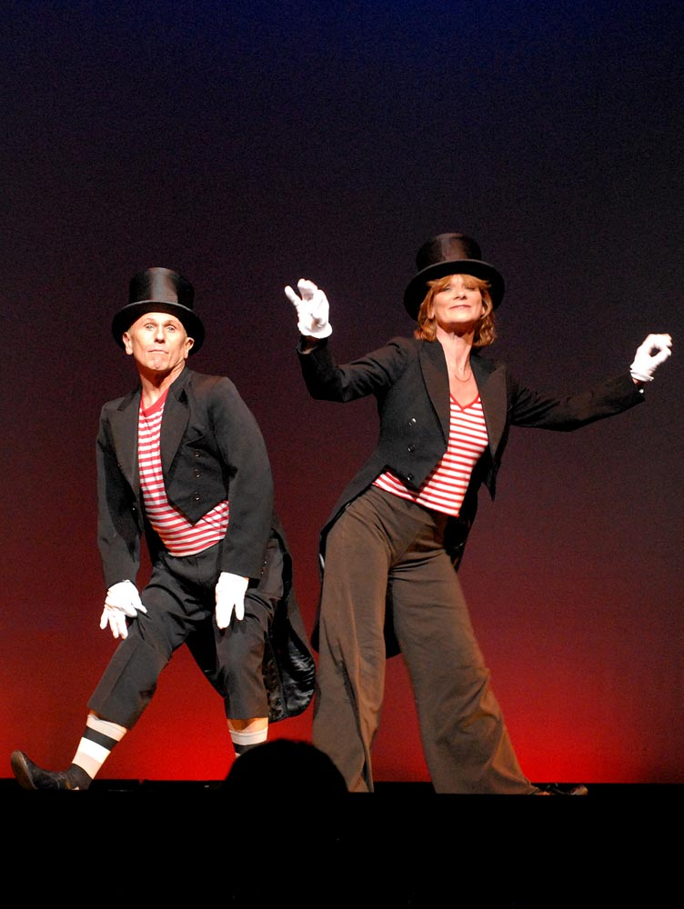 Wayne Sleep and Samantha Bond performing 'We're A Couple of Swells'.© Sophie Harris-Taylor. (Click image for larger version)