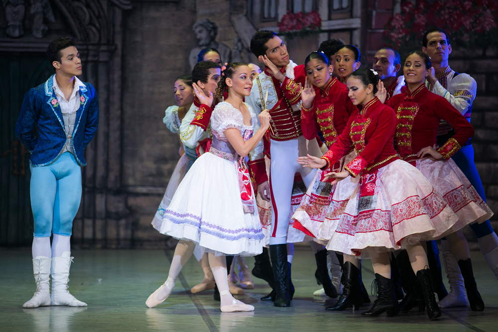 "Alexa Gutierrez and Solieh Samudio as Swanilda and Franz in <I>Coppelia</I>.<br />© Agustin Goncalves, <a href=""http://twitter.com/agusgon"">@agusgon</a>. (Click image for larger version)"