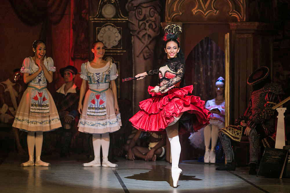 "Ana Carolina Olarte as the Spanish doll in <I>Coppelia</I>.<br />© Agustin Goncalves, <a href=""http://twitter.com/agusgon"">@agusgon</a>. (Click image for larger version)"