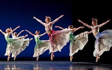 Houston Ballet in Mark Morris's Pacific.© Amitava Sarkar. (Click image for larger version)