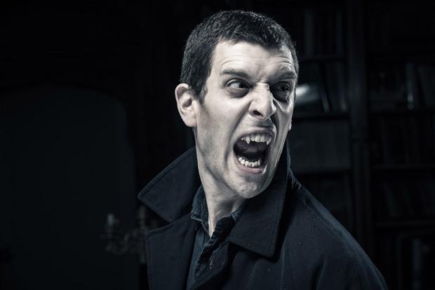 Jonathan Goddard as <I>Dracula</I>.<br />© Colin Hawkins. (Click image for larger version)