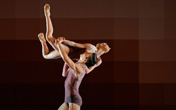 James Pett and Daniela Neugebauer in Atomos.© Dave Morgan. (Click image for larger version)
