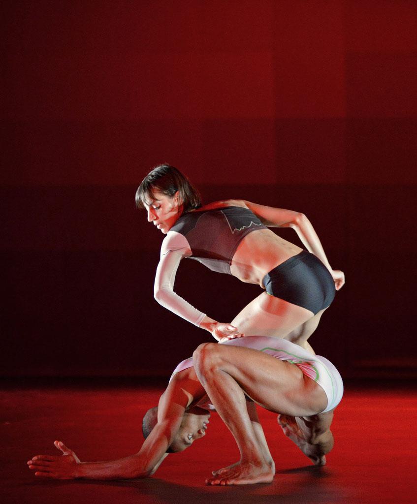 Michael-John Harper and Catarina Carvalho in <I>Atomos</I>.<br />© Dave Morgan. (Click image for larger version)
