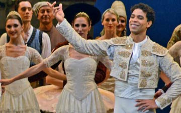 Marianela Nunez and Carlos Acosta after the premiere of Don Quixote.© Dave Morgan, by kind permission of the Royal Opera House. (Click image for larger version)