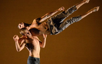 BalletBoyz 'The Talent' with Serpent by Liam Scarlett.© Dave Morgan. (Click image for larger version)