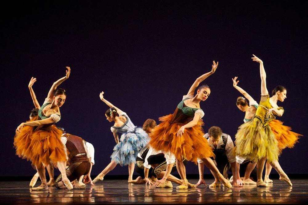 San Francisco Ballet in Ratmansky's <I>From Foreign Lands</I>.<br />© Erik Tomasson. (Click image for larger version)