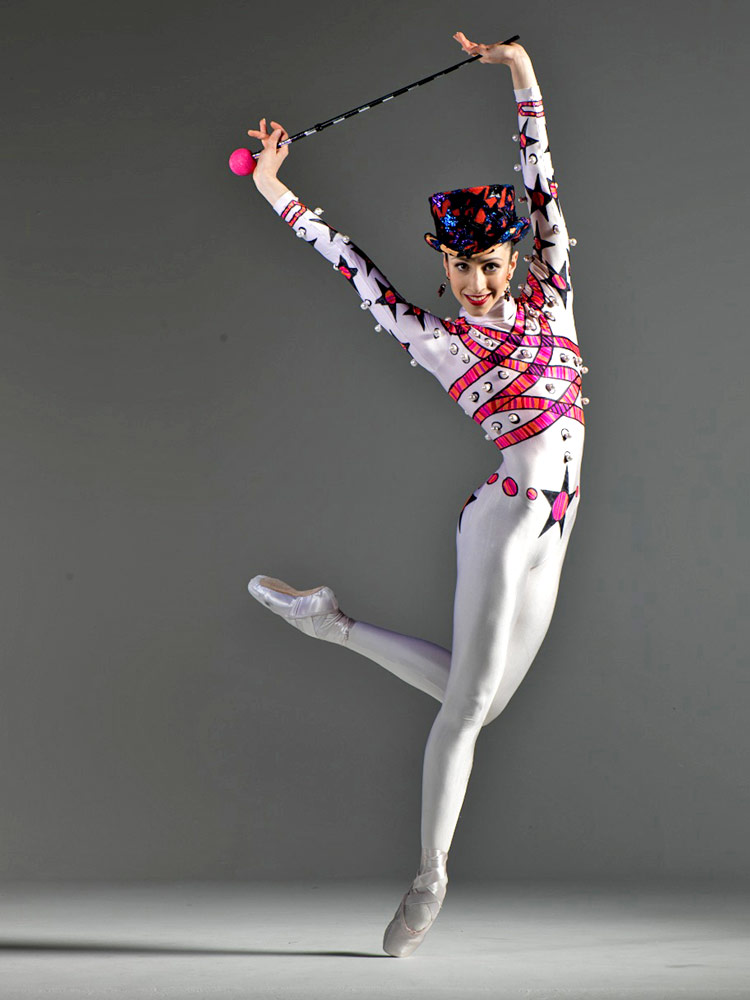 Brenda Lee Grech in a poster image for Kenneth MacMillan's Elite Syncopations.© G W Shooting. (Click image for larger version)