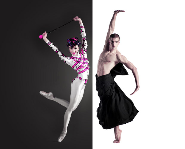 Brenda Lee Grech and Victor Zarallo in a poster image for <I>Elite Syncopations</I> and <I>Rite of Spring</I>.<br />© G W Shooting. (Click image for larger version)