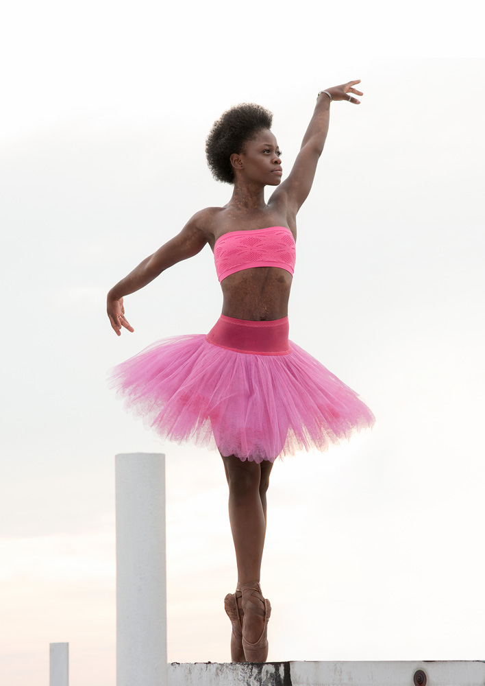 Michaela DePrince, taken in NY this summer, just before leaveing for Amsterdam.© Jade Young. (Click image for larger version)