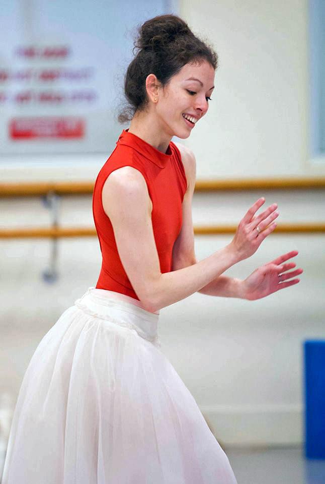 Juliet Burnett in rehearsal for La Sylphide.© Lynette Wills. (Click image for larger version)