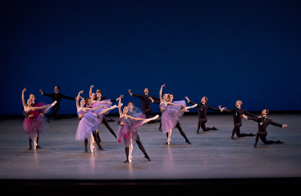 New York City Ballet in <I>Soirée Musicale</I>.<br />© Paul Kolnik. (Click image for larger version)
