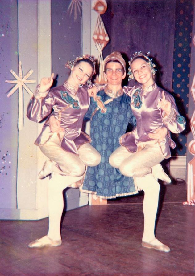 From Mary Day's Nutcracker in 1968 - Susan Jones, Kevin McKenzie and Kay Kincer.© Susan Jones archive snapshot. (Click image for larger version)