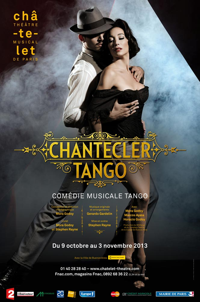 Chantecler Tango poster.© Theatre du Chatelet. (Click image for larger version)