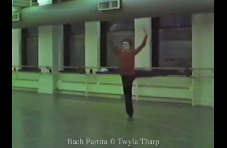 Link to video of American Ballet Theatre dancers in original rehearsals for Bach Partita. This is a still - sadly we can't embed the video on this page but clicking on the picture will take you to www.twylatharp.org where you can see it in full – do take a look. © twylatharp.org