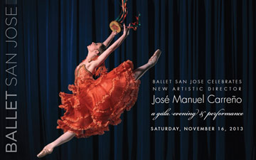 Ballet San Jose flyer for the 2013 Benefit Gala.© Ballet San Jose. (Click image for larger version)