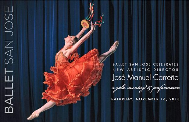 Ballet San Jose flyer for the 2013 Benefit Gala.<br />© Ballet San Jose. (Click image for larger version)