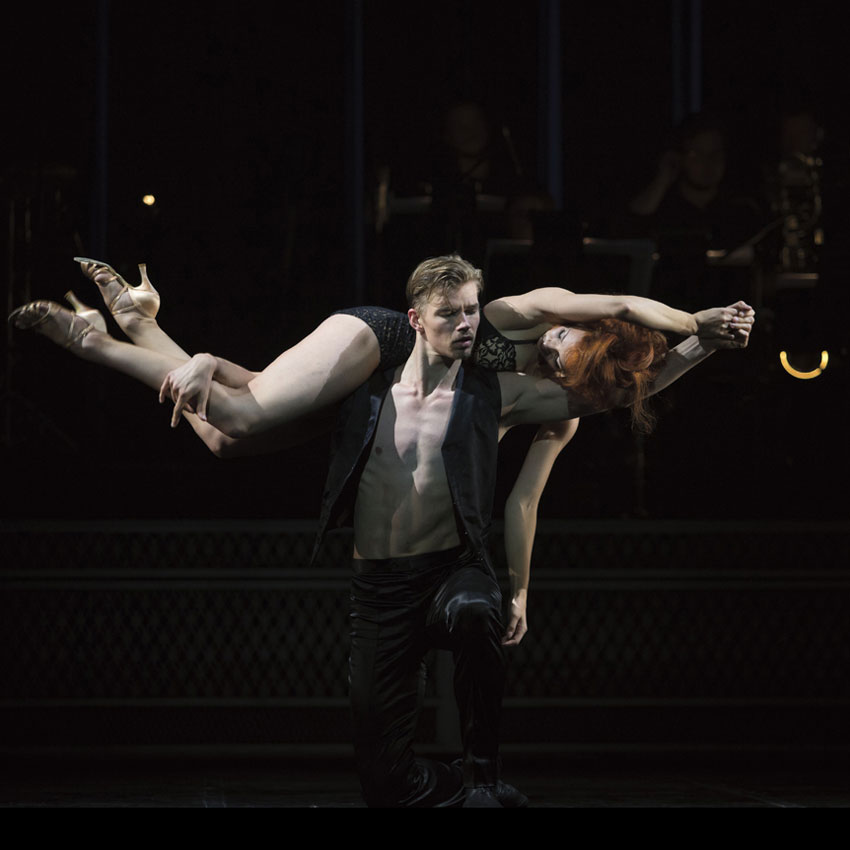 Femke Mølbach Slot as Kate and Gregory Dean as Hank in Come Fly Away.© Costin Radu. (Click image for larger version)