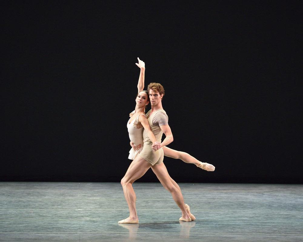 Polina Semionova and James Whiteside in Bach Partita.© Gene Schiavone. (Click image for larger version)