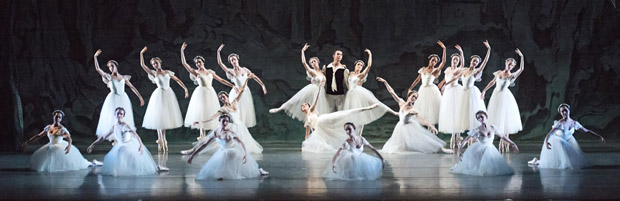 American Ballet Theatre in <I>Les Sylphides</I>.<br />© Gene Schiavone. (Click image for larger version)