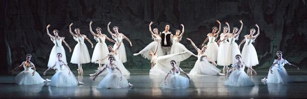 American Ballet Theatre in <I>Les Sylphides</I>.<br />© Gene Schiavone. (Click image for larger version)