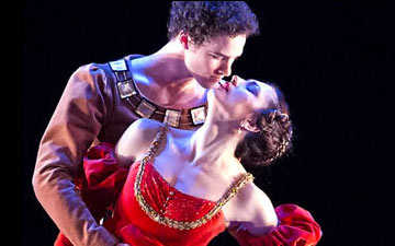 Veronika Part and Cory Stearns in The Moor's Pavane.© Gene Schiavone. (Click image for larger version)