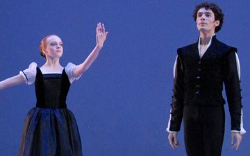 Heather Ogden and Michael Cook in Mozartiana.© Linda Spillers. (Click image for larger version)