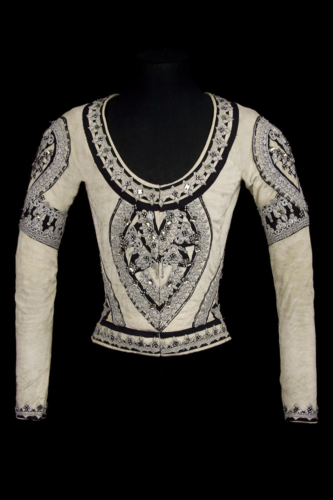 Doublet for the role of Solor, <I>La Bayadere</I>, Kingdom of the Shades Act, 1974. Costume by Martine Kamer.<br />© CNCS / Photo Pascal Francois. (Click image for larger version)