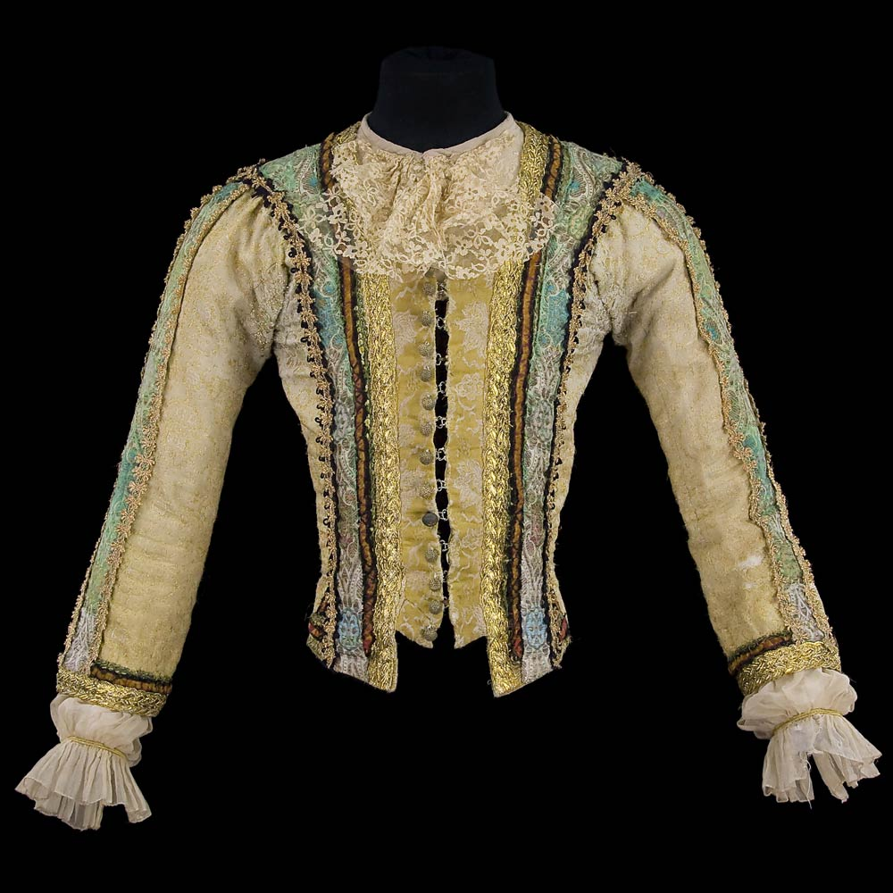 Doublet for the role of Basilio in <I>Don Quixote</I>, 1979. Costume by Nicholas Georgiadis.<br />© CNCS / Photo Pascal Francois. (Click image for larger version)