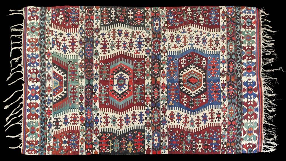 Kilim rug, West Anatolia, 20th century.<br />© CNCS / Photo Pascal Francois. (Click image for larger version)