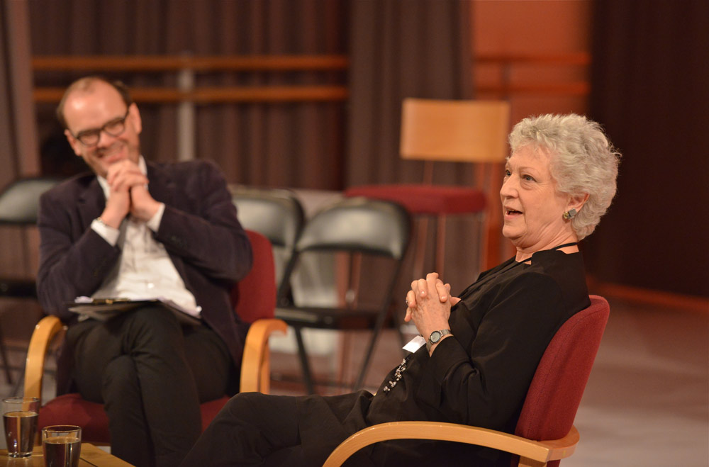 Monica Mason recalling memories of Robert Helpmann in an interview with Rupert Chirstiansen, writer and critic.© Brian Slater. (Click image for larger version)