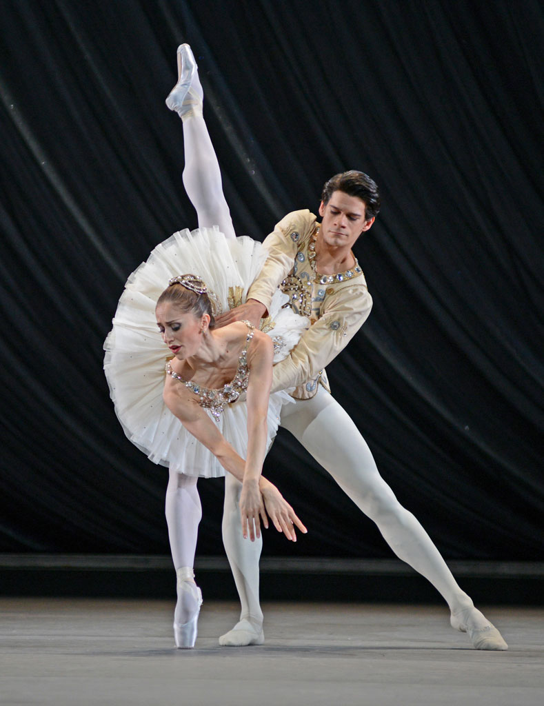 Marianela Nunez and Thiago Soares in <I>Diamonds</I>, part of <I>Jewels</I>.<br />© Dave Morgan, by kind permission of the Royal Opera House. (Click image for larger version)