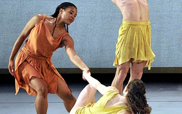 Mark Morris Dance Group in Socrates.© Gene Schiavone. (Click image for larger version)